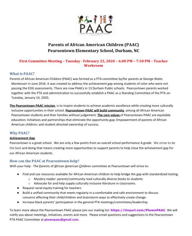 PAAC Flyer